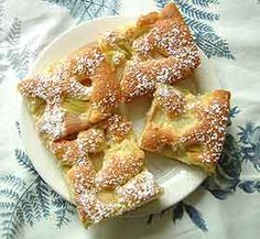 Rhabarber Kuchen (rhubarb cake) - my mom made the best one Rhubarb Cake, Sweet Bakery, Blondies, Waffles, Sweet Tooth, French Toast, Cooking Recipes, Sweets, Waffle