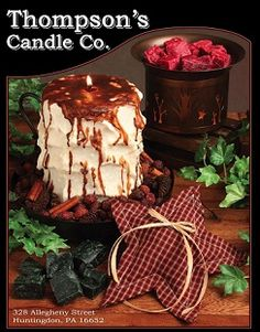 Thompson's Candle Co.  Thompson's Candle Co. has been making artisan crafted, super scented candles since 1997. You will not find a better burning, stronger scented candle on the market today.