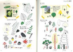 Color Pen Illustration Japanese Drawing Book by JapanLovelyCrafts