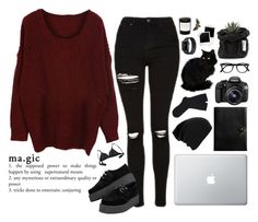 """""""magic"""" by rayssamalfoy ❤ liked on Polyvore featuring Topshop, Coach, Falke, Eos, Eres and Byredo"""
