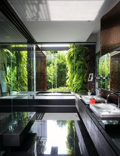 Love this Zen-like Indonesian style bathroom.  Photo by Gala Indiga, via Behance