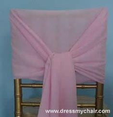 folding chair covers---I need cheap ideas, people! :  wedding DIY Sash