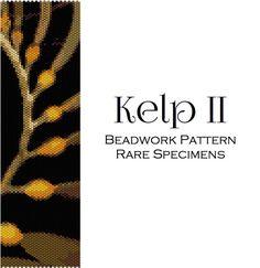 Kelp 2 Peyote Stitch Beadwork Pattern - PDF instant download - Cuff Bracelet - Bookmark - Beaded Tapestry