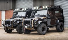For fans of the James Bond film franchise — especially in the Daniel Craig era — this Land Rover Defender Spectre Edition by Tweaked Automotive is sure to pique your interest. Available in a 90 or 110 edition, this modified Land Rover. Land Rover Defender Pickup, Defender 90, Landrover, Bond Cars, Offroader, Cars Land, Expedition Vehicle, Land Rover Discovery, 4x4 Trucks