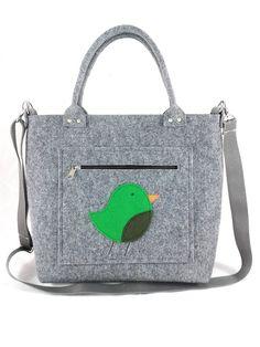 Handbag Felt purse Bag for women Anthracite bag Felt bag Designer handbag Felt shoulder bag Modern