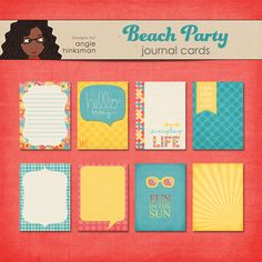 FREE AHinksman : Beach Party Journal Cards : May 2014 DigiScrap Parade [ more than 50 designers ! ]