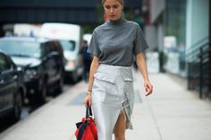 First made popular in the 90s thanks to supermodels like Kate Moss, the mock-neck top is making a comeback—just look to some of your favorite Instagram feeds, and designers like J.W. Anderson, Isabel Marant and Proenza Schouler's latest collections for proof. Not quite a turtleneck, the mock-neck silhouette is more flattering than you'd think. From LBDs to soft knits, give this cold weather trend a try with our edit of pieces from Marni, Tibi and more. Photo: Adam Katz Sinding