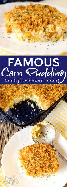 the best corn pudding - yummy recipe!!! Familyfreshmeals.com