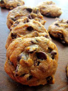 Pumpkin chocolate chip cookies (sifting the flour helps the lightness)
