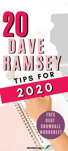 20 Dave Ramsey tips to help you pay off debt fast in 2020 plus get a free printable debt snowball worksheet and spreadsheet. Debt free living is possible with an intentional plan and budgeting. Debt Snowball Spreadsheet, Debt Snowball Worksheet, Budgeting Finances, Budgeting Tips, Dave Ramsey Plan, David Ramsey, Dave Ramsey Debt Snowball, Total Money Makeover, Savings Plan