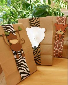 Home made party favor bags using sandwich bags