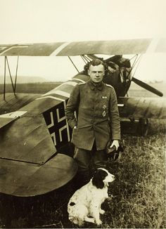 36 kill German ace Oberleutnant Karl Bolle in 1918 with his Fokker DVII. He survived the war.