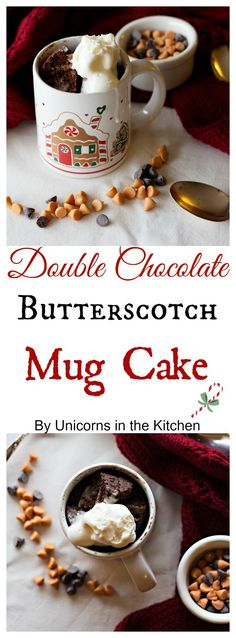 Double Chocolate Mug cake is wonderful for a chilly evening!