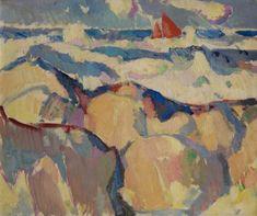 The Red Sail by John Duncan Fergusson (Scottish 1874–1961)
