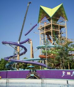 Aquatica By Sea World - IHU BREAKAWAY FALLS almost complete!!!  Will you slide?