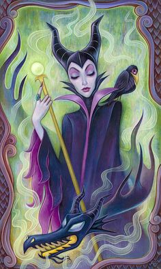Maleficent by Jeremiah Ketner, debuting @ WonderGround Gallery in Disneyland, Ma… - Art ideas Disney Fan Art, Disney Artwork, Disney Drawings, Disney Love, Drawing Disney, Disney Magic, Walt Disney, Evil Disney, Downtown Disney
