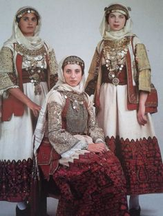 Traditional costume from Spata town, Attica, Greece Greek Traditional Dress, Traditional Fashion, Traditional Outfits, Historical Costume, Historical Clothing, Folk Fashion, Womens Fashion, Greek Fashion, Greek Culture