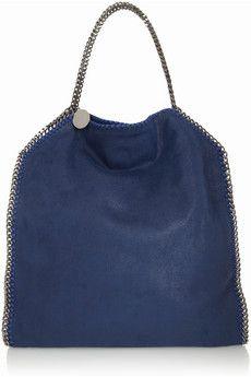 Stella McCartney - The Falabella faux brushed-leather shoulder bag 124705bcfe