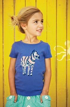 Pigtails & Zebra Mini Boden T-Shirt