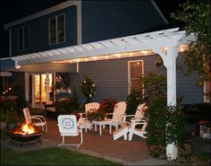 we are going to build a pergola attached to the, garage patio next ...