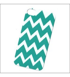 teal chevron iphone 4 case iphone 4s case iphone 4 by icasecouture, $16.00