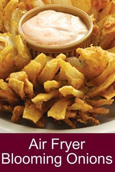 Air Fryer Blooming Onions - Home Decor And Cooking Recipes HealthyFood FoodRec. - Dessert Food Recipes - Air Fryer Blooming Onions – Home Decor And Cooking Recipes Air Fryer Recipes Potatoes, Air Fryer Oven Recipes, Air Frier Recipes, Air Fryer Recipes Appetizers, Air Fryer Recipes Vegetables, Air Fryer Dinner Recipes, Sauce Pizza, Cooks Air Fryer, Air Fryer Chicken Tenders
