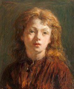 Head of a Girl ~ by Hugh Cameron