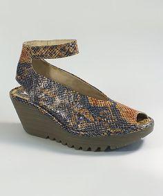 06d59816ffe7 Orange Yala Leather Sandal by FLY London  zulilyfinds
