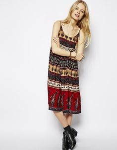 Enlarge ASOS Mid Sundress in Paisley Print