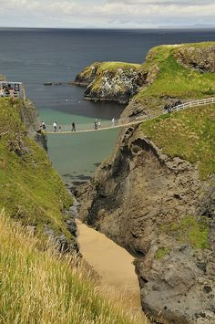 Carrick-a-Rede Rope Bridge, Co. Antrim, Northern Ireland (by AAron Metcalfe).  uh, I don't think so.