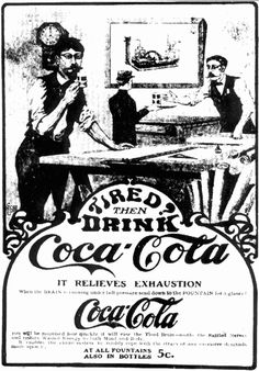 early coca cola advertisements | hear cocaine does that for you