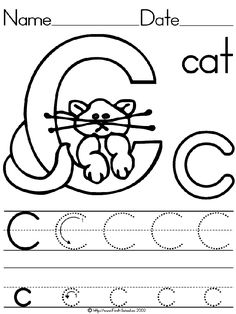 Fun little activity for your preschooler! At school they have to tell the teacher the letter sound before they can get the worksheet out. Then they learn to trace it and then get to color! Kindergarten Spelling Words, Letter Worksheets For Preschool, Preschool Writing, Preschool Letters, Preschool Education, Preschool Learning Activities, Preschool Curriculum, Alphabet Worksheets, Alphabet Activities