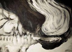 """""""El eterno regreso a la gran nada... inmersión después de rigor mortis"""" Acrílico/tela 40x30cm Vendido"""