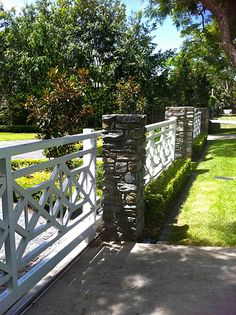 Timber combined with stone Fence, Brisbane, Australia