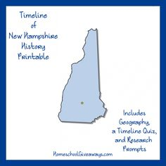 FREE New Hampshire State History Printable. New Hampshire is a state filled with beauty. Tourists love the mountains, lakes, and beaches. In the fall, the beauty of the bright leaves in all shades of red, orange, and yellow attract many visitors. And in the winter, the mountains attract skiers from many areas. Create a timeline of state history, enjoy challenging writing prompts, and more with this free 7-page state history printable.