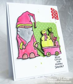 #Cre8time for #Christmas calm in trendy colors. #stampendous #pinkyourlife…