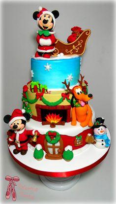https://flic.kr/p/BwSodk | Disney Mickey and Minnie Mouse lovely Christmas cake - Miki i Mini Maus novogodisnja torta by Balerina Jagodina | Disney Mickey and Minnie Mouse lovely Christmas cake - Miki i Mini Maus novogodisnja torta by Balerina Jagodina