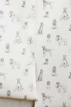 Discover unique wallpaper at Anthropologie, from printed wallpaper to floral wallpaper and more. Boys Wallpaper, Unique Wallpaper, Bathroom Wallpaper Dog, Chinese Wallpaper, Toile Wallpaper, Watercolor Wallpaper, Graphic Wallpaper, Black And White Dog, Bedrooms