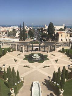 Beautiful garden in Haifa Haifa, Beautiful Gardens, Golf Courses, Vacation, Vacations, Holiday, Holidays