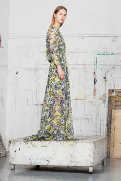 In an art studio!! Erdem, pre-spring/summer 2015 fashion collection