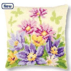 And this is one of the newest cross-stitch cushion models of Vervaco.