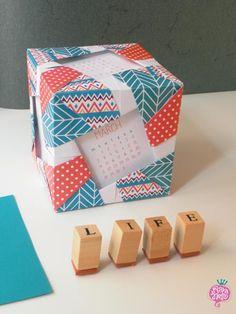 Free printable calendar 2016 - origami cube calendar - calendario origami :-)
