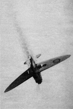 Third of a group of pictures taken from a Heinkel He-111 chronicling her dogfight with a Supermarine Spitfire during the Battle of Britain.