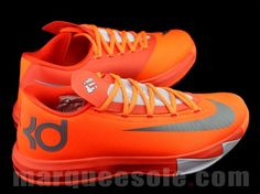 Nike Zoom KD 6 Total Orange Armory Slate