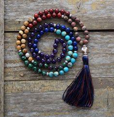 7 Chakra Natural Stone Mala Necklace Bracelet