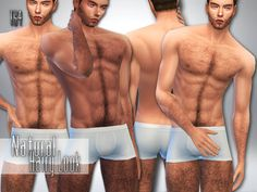 Detailed body hair for male sims , with natural look and perfect with any skin color. Found in TSR Category 'Sims 4 Male Skin Details'