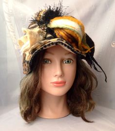 one of a kind designer fleece warm head band by Tatiana123