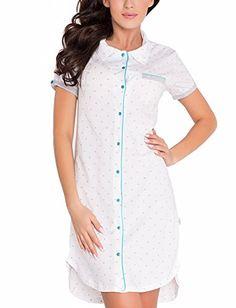 Dobranocka TCB.7030 Camicia Da Notte,L,Bianco-Menta Dobranocka http://ebay.to/1ME7pvn