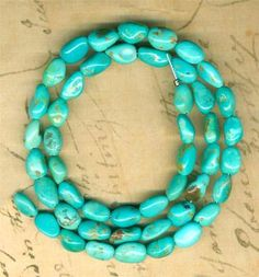 "Castle Dome Turquoise Beads Southwest Arizona USA Pinto Valley Genuine 16"" Strd | eBay"