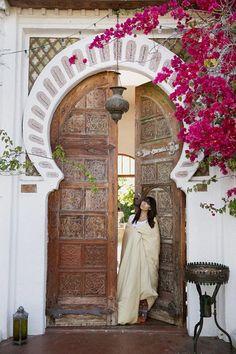 Moroccan style oversized doorway